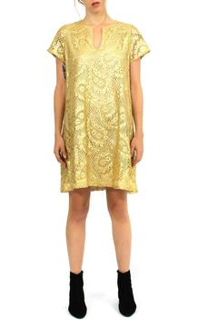 Gamla Fashion Golden Lace Dress - Product List Image