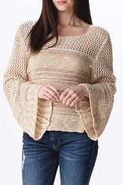 Ganji LA Neutral Beige Sweater - Front full body
