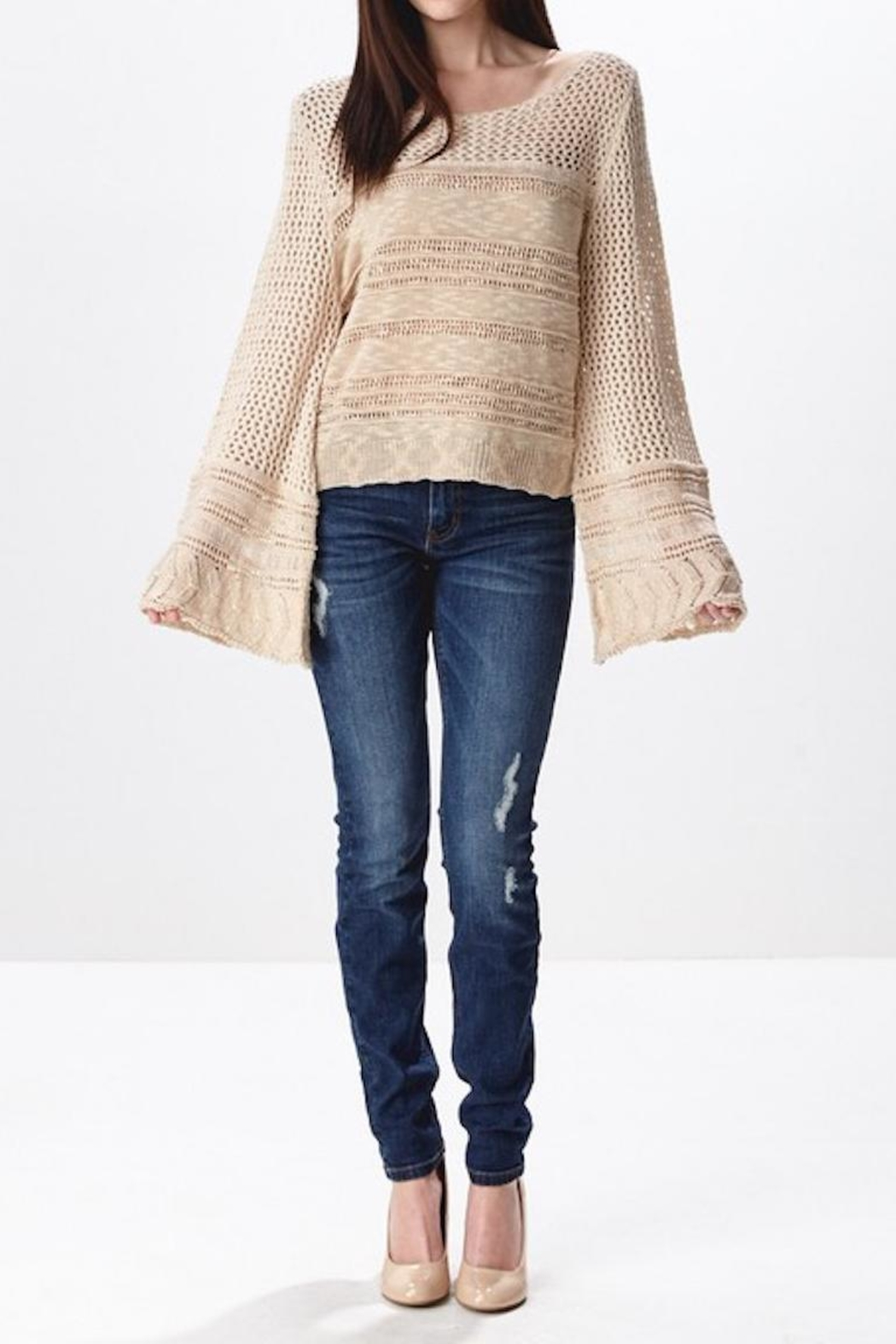 Ganji LA Neutral Beige Sweater - Main Image