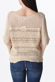 Ganji LA Neutral Beige Sweater - Back cropped