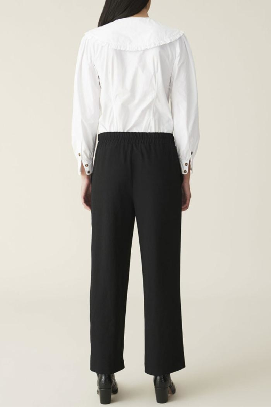 Ganni Heavy Crepe Wide Pants - Side Cropped Image