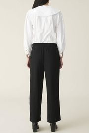 Ganni Heavy Crepe Wide Pants - Side cropped