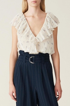 Ganni Pleated Georgette Top - Product List Image