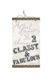 Ganz Classy and Fabulous Sign - Product Mini Image