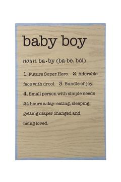 Shoptiques Product: Baby Boy Wall Decor