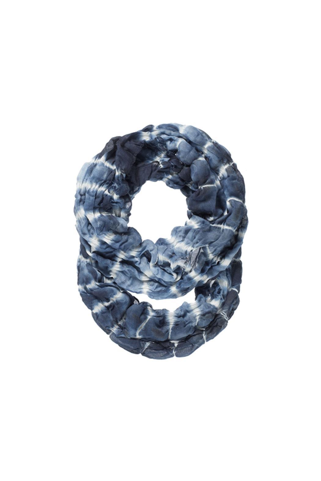 Ganz Blues Infinity Scarf - Front Cropped Image