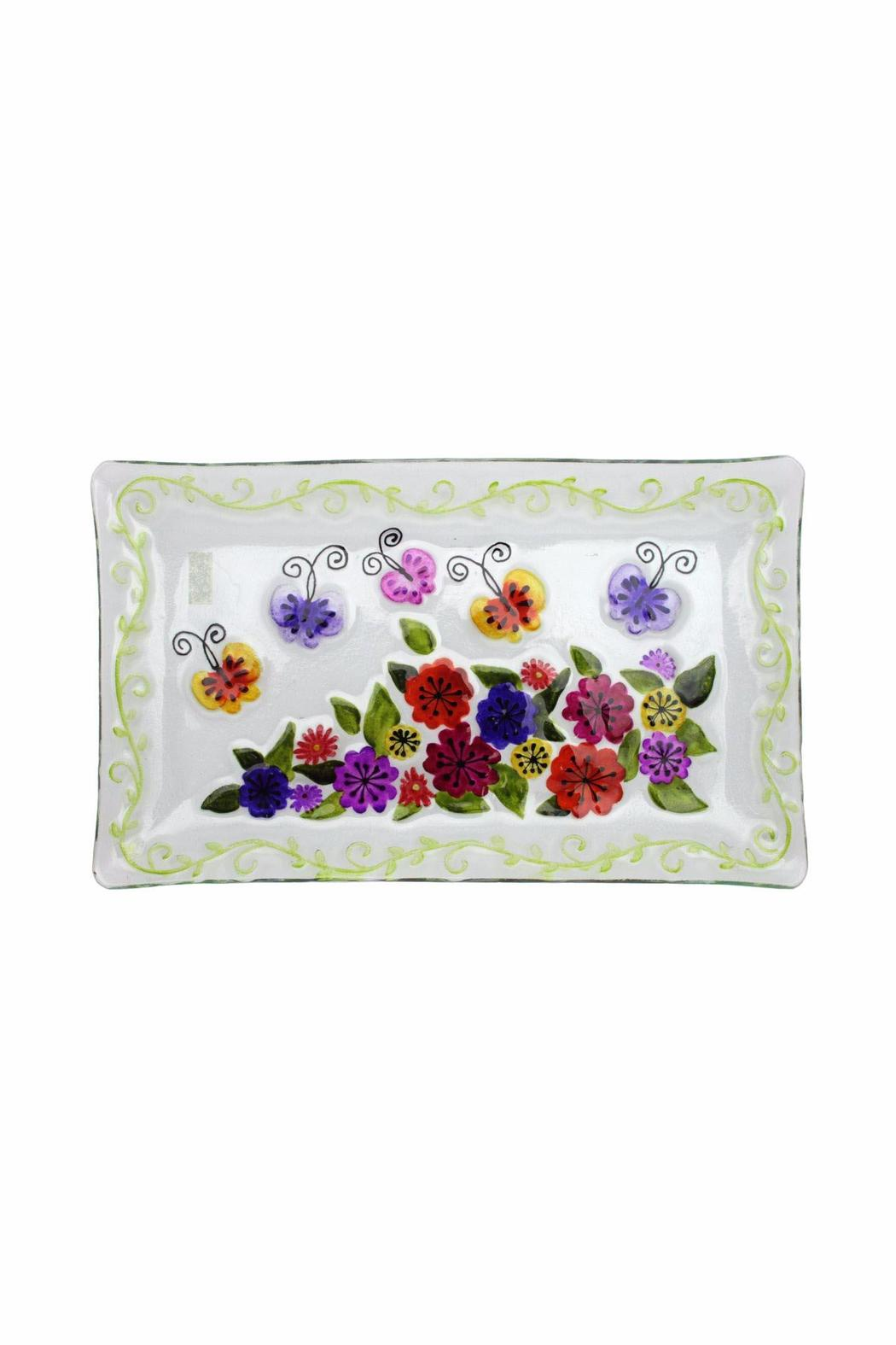 Ganz Butterfly Glass Platter - Front Cropped Image