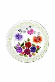 Ganz Flowers Round Platter - Product Mini Image