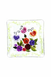 Ganz Flowers Square Platter - Product Mini Image