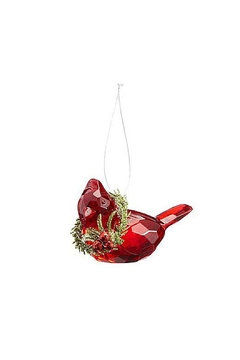 Ganz Cardinal Ornament W/wreath - Alternate List Image