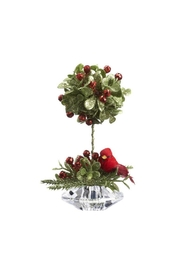 Ganz Cardinal Topiary Ornament - Front cropped