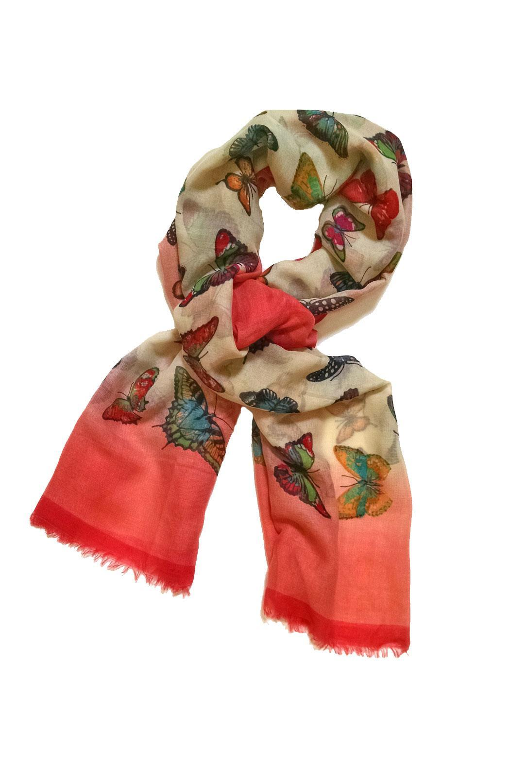 Ganz Colorful Butterfly Scarf - Main Image