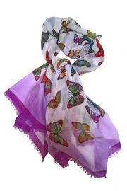 Ganz Colorful Butterfly Scarf - Front cropped