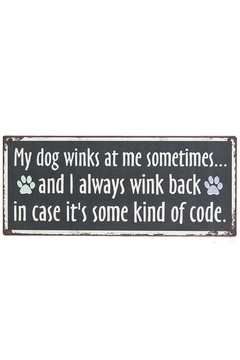 Ganz Dog Code Sign - Product List Image