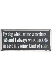 Ganz Dog Code Sign - Product Mini Image