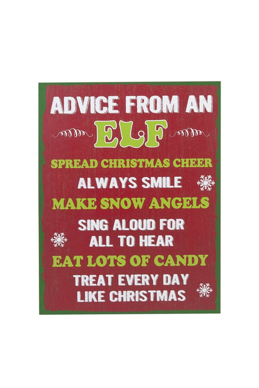 Ganz Elf Advice Plaque - Front Cropped Image