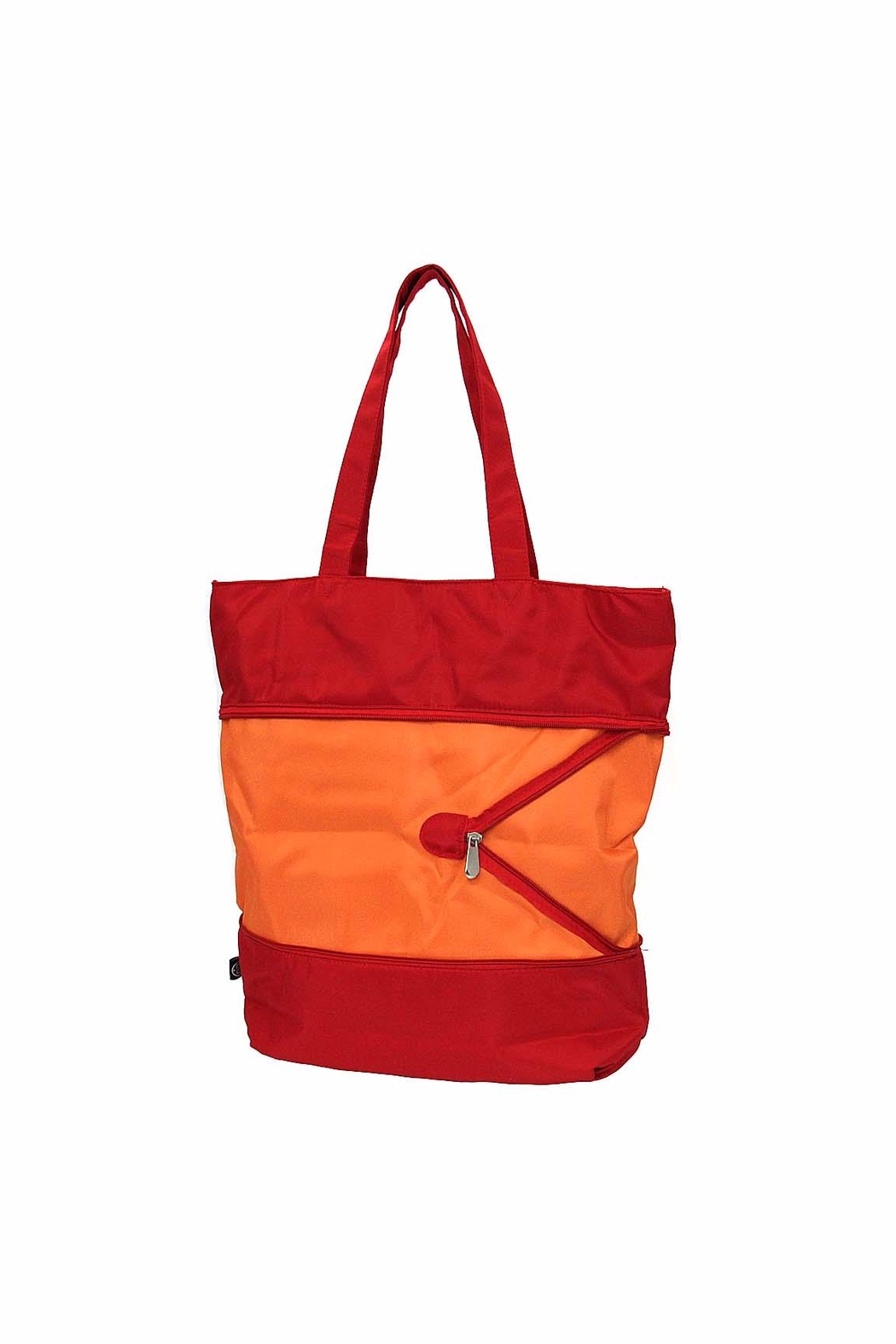 Ganz Expandable Tote Mandarin Red - Front Full Image