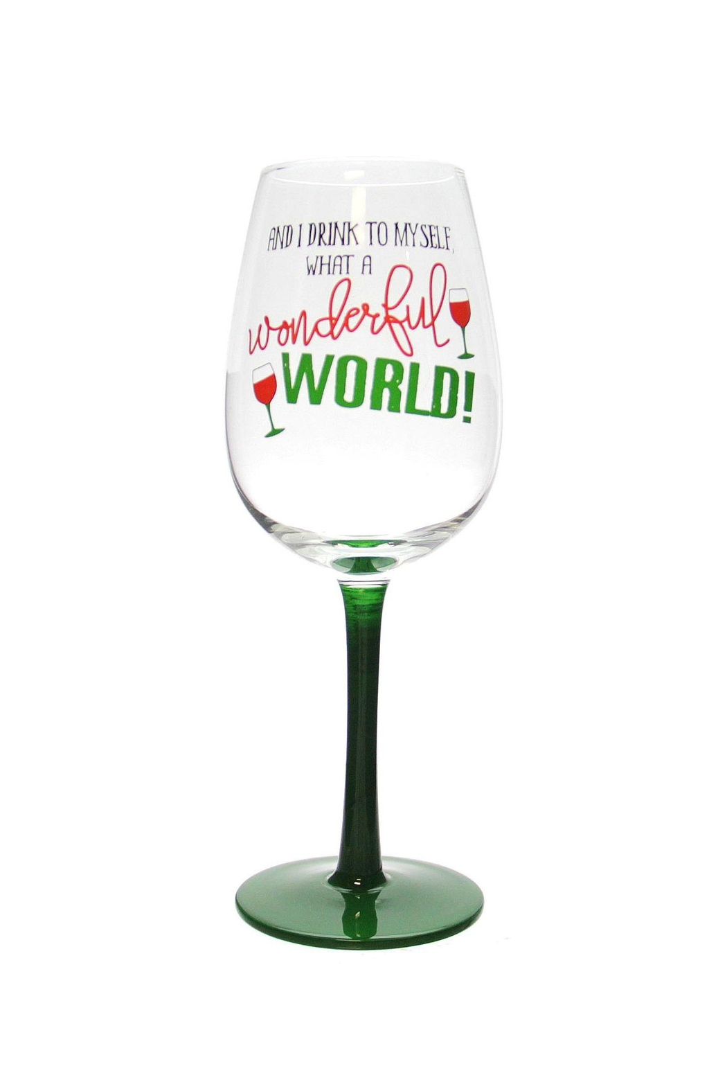Ganz Funny Christmas Wineglass - Front Cropped Image