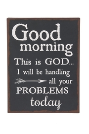 Ganz Good Morning Plaque - Product Mini Image