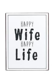Ganz Happy Wife Plaque - Product Mini Image
