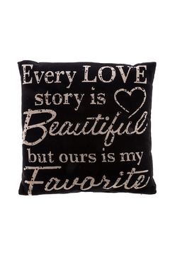 Shoptiques Product: Love Story Pillow