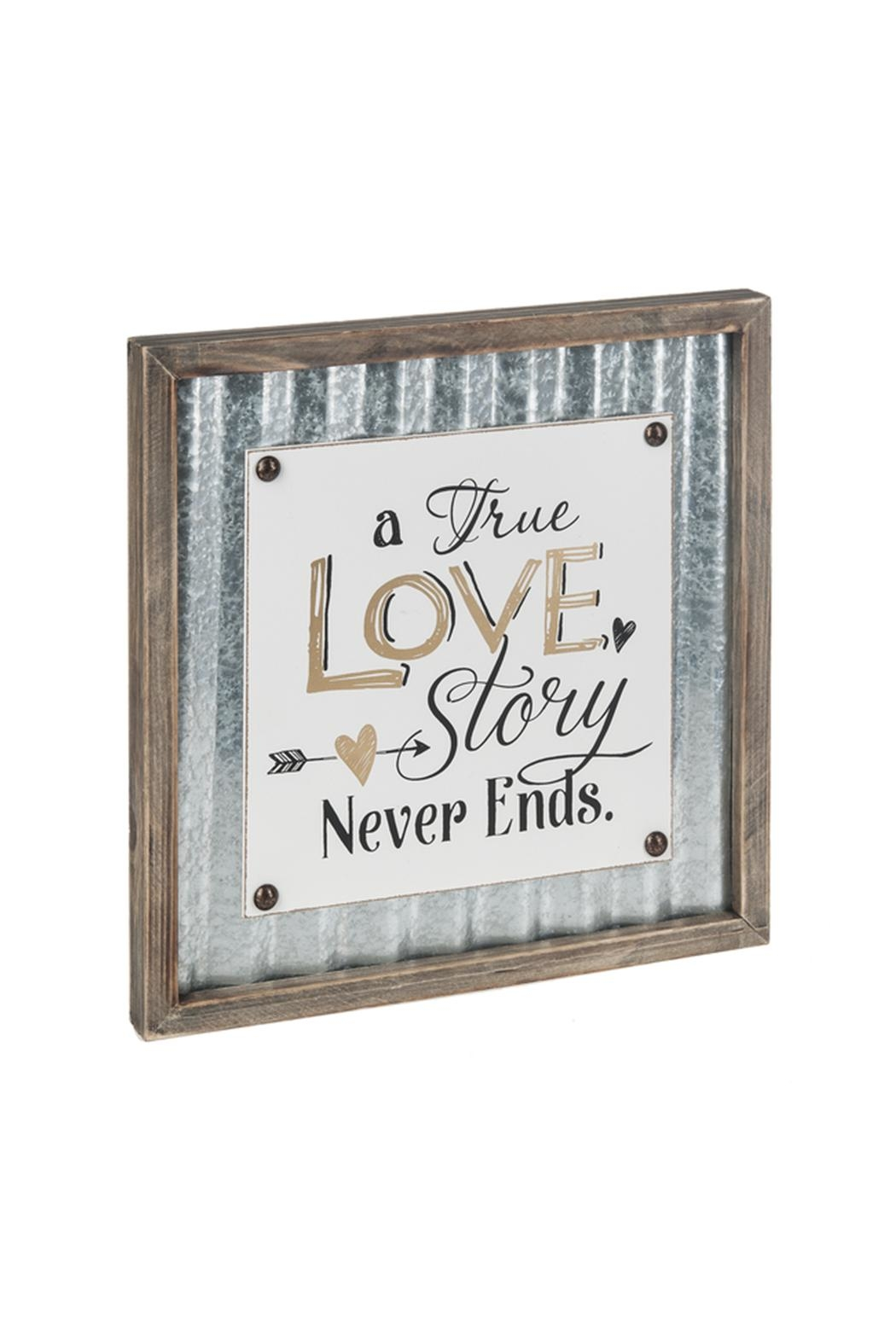 Ganz Love Story Plaque - Front Cropped Image