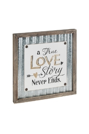 Ganz Love Story Plaque - Front cropped