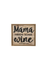Ganz Mama Wine Sign - Front cropped