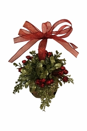 Ganz Mistletoe Bell Ornament - Front cropped