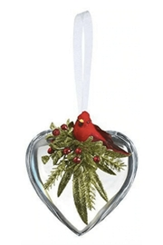 Ganz Mistletoe & Cardinal Heart Ornament - Product Mini Image
