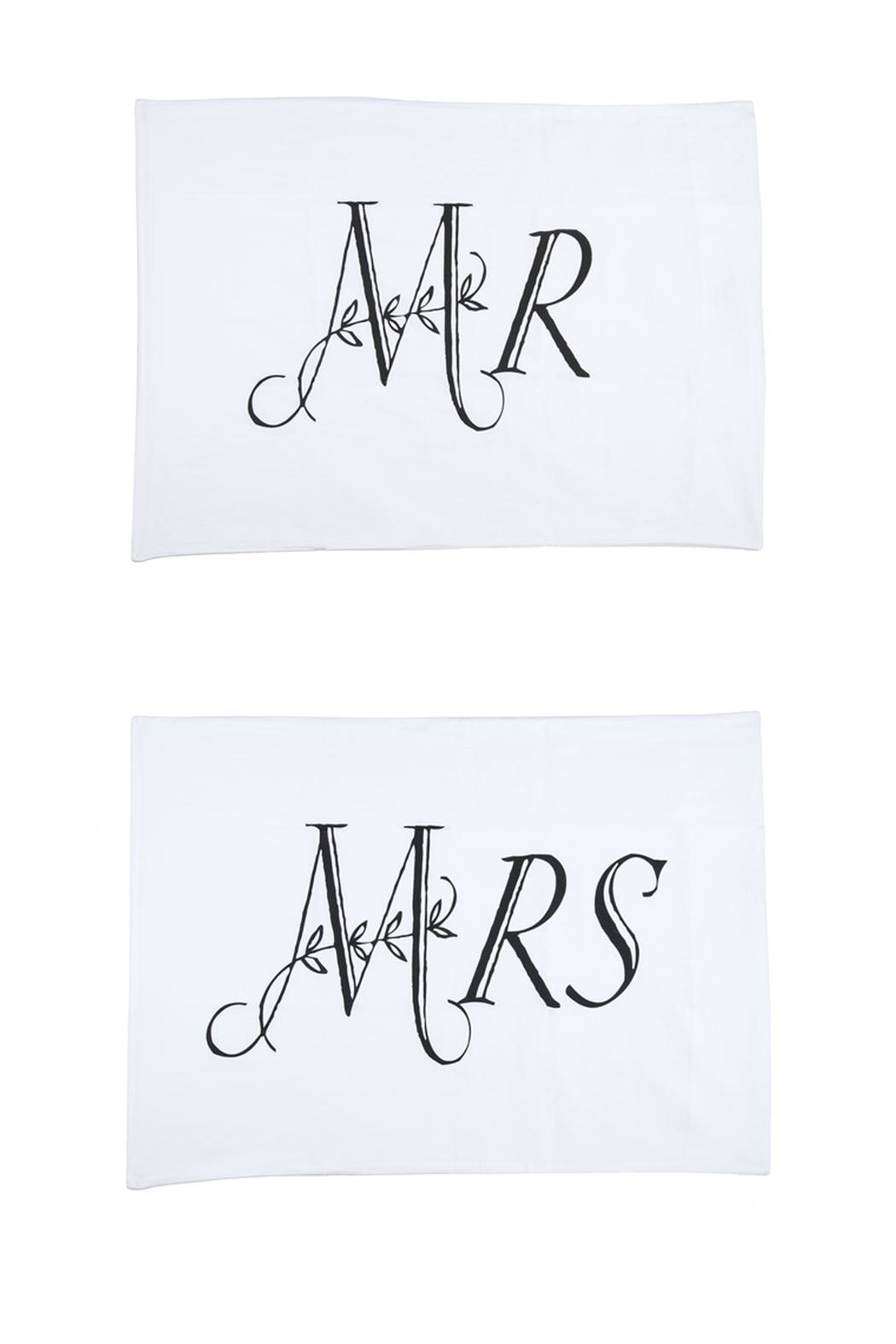 Ganz Mr./Mrs. Pillowcase Set - Front Cropped Image