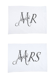 Ganz Mr./Mrs. Pillowcase Set - Product Mini Image