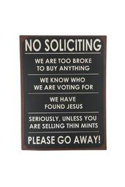 Ganz No Soliciting Sign - Product Mini Image
