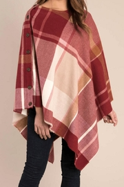 Ganz Plaid Wrap Poncho - Product Mini Image