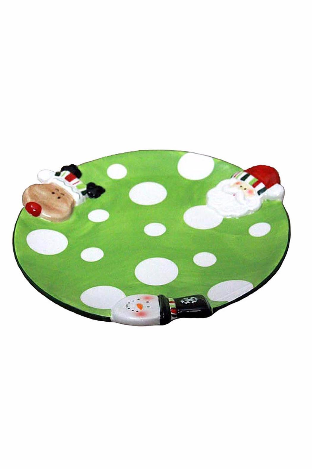 Ganz Polka-Dot Snack Plate - Front Cropped Image