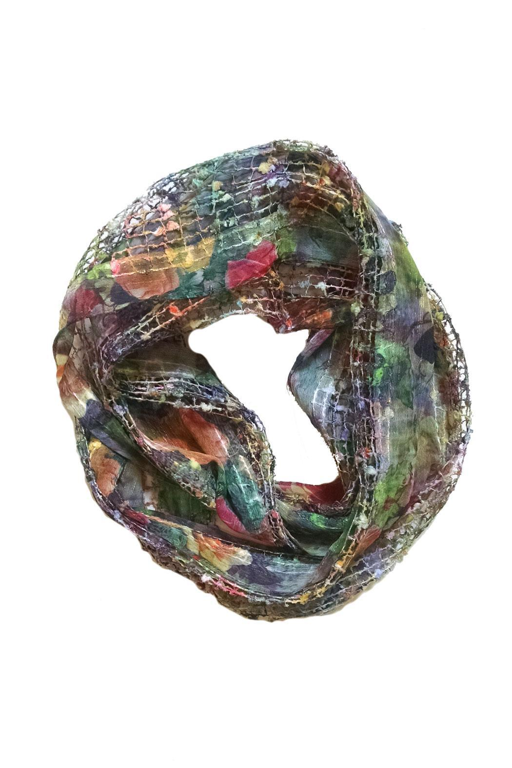 Ganz Print Infinity Scarf - Front Cropped Image