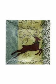 Ganz Reindeer Glass Plate - Product Mini Image