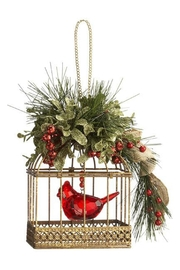 Ganz Rustic Cardinal Birdcage - Front cropped