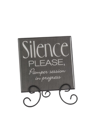 Ganz Silence Please Plaque - Product Mini Image