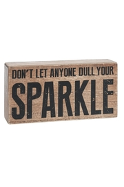 Ganz Sparkle Box Sign - Product Mini Image