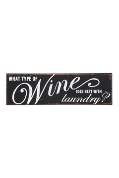 Shoptiques Product: Wine & Laundry Plaque