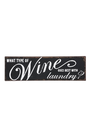 Ganz Wine & Laundry Plaque - Product Mini Image