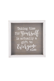 Ganz You Time Plaque - Product Mini Image