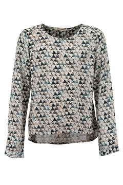 Garcia Jeans Woven Triangle Print Top - Product List Image