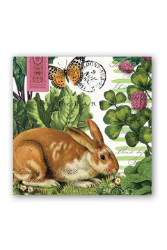 Michel Design Works Garden Bunny Napkin - Alternate List Image