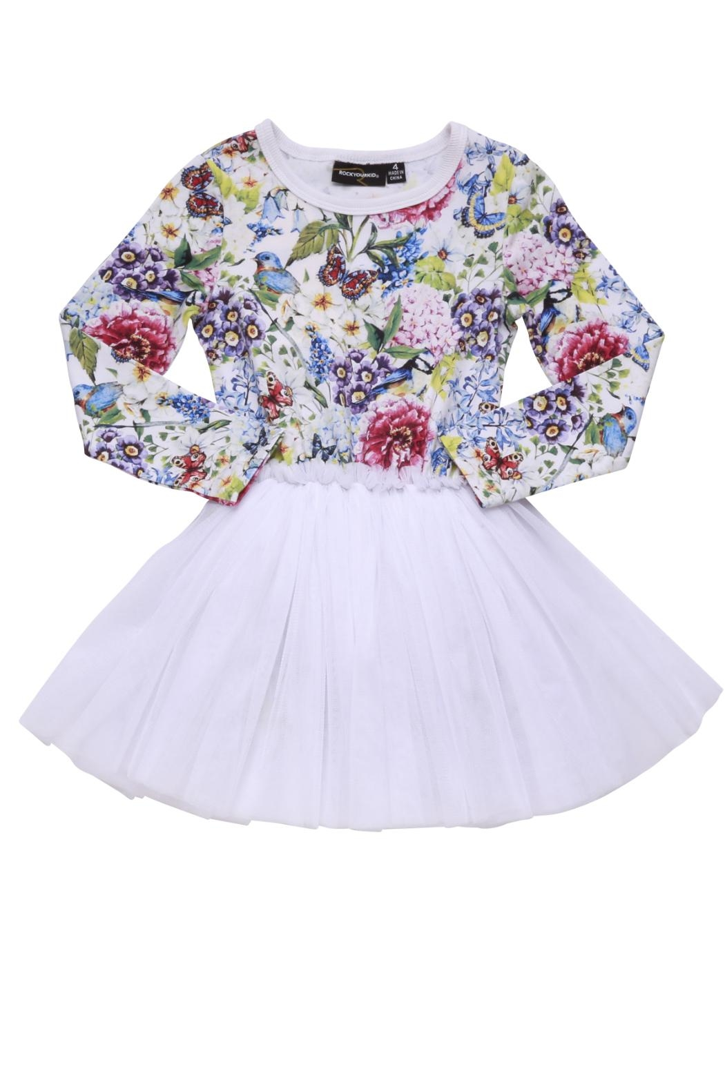 Rock Your Baby Garden Circus Dress - Front Full Image