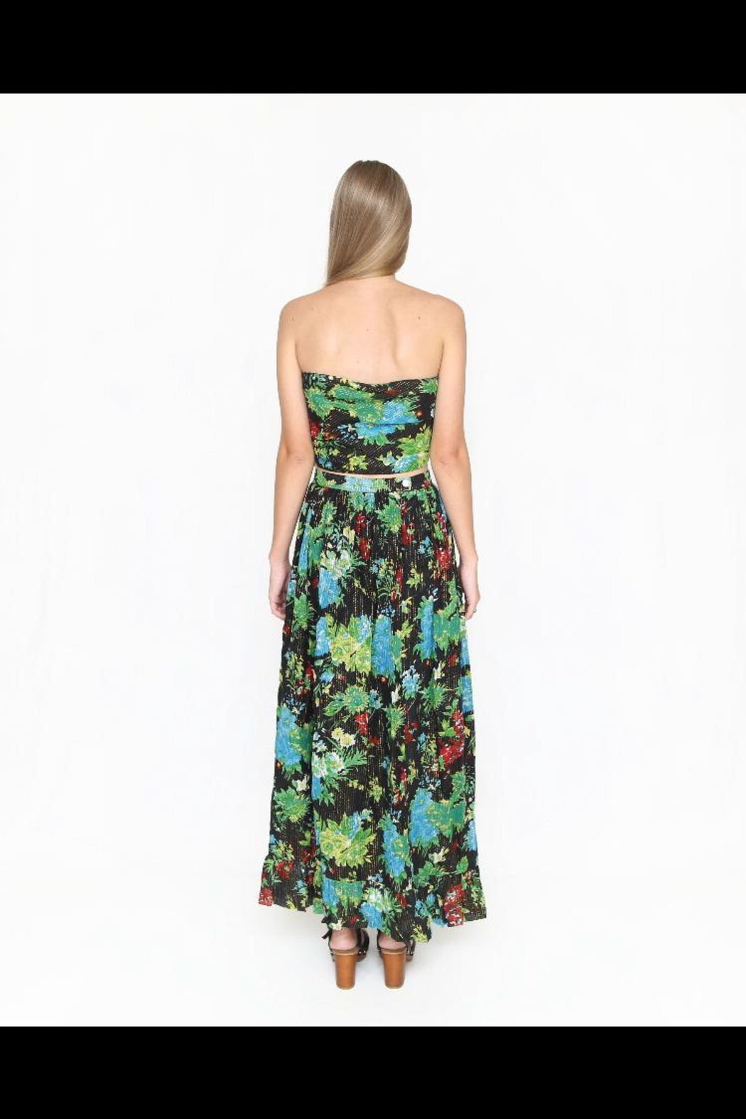 Fox In Gown Garden Floral Skirt - Front Full Image