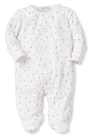 Kissy Kissy Garden Roses Print Footie - Front cropped
