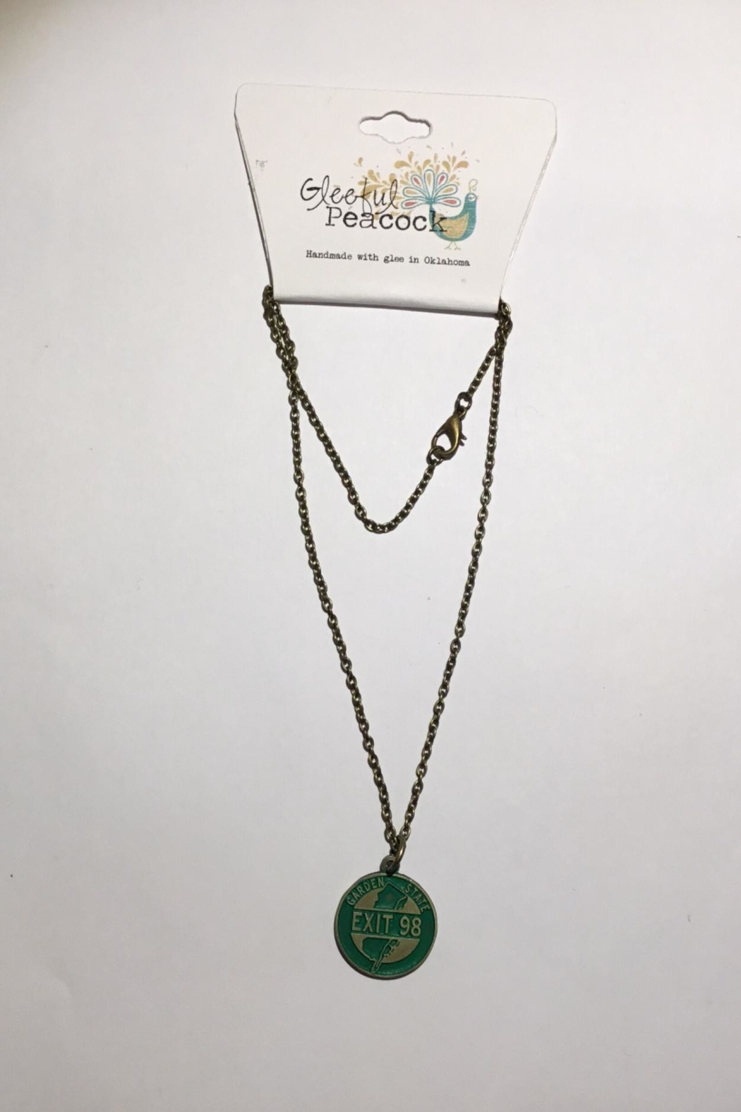Gleeful Peacock Garden State Necklace - Main Image