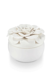 Illume  Gardenia Ceramic Flower - Front cropped
